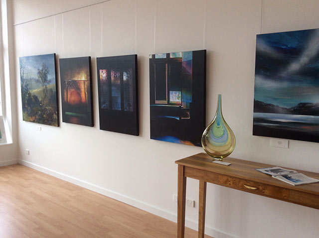 Paintings hung in huon gallery